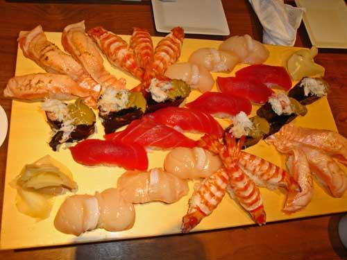 Difficile de penser a tout ca devant les succulents Sushi Japonais.....!  :-(